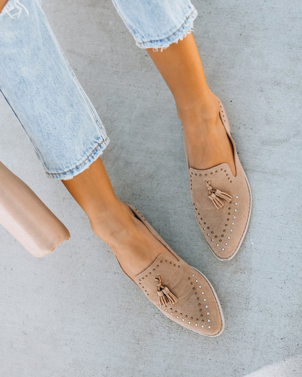 Mulberry Studded Tassel Loafer Mule