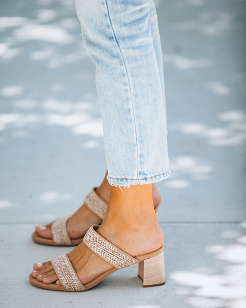 Scottsdale Raffia Block Heeled Sandal