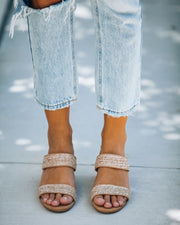 Scottsdale Raffia Block Heeled Sandal view 2