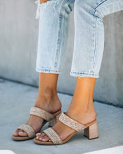 Scottsdale Raffia Block Heeled Sandal view 3