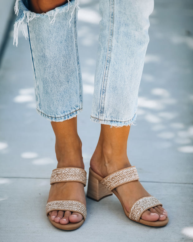 Scottsdale Raffia Block Heeled Sandal view 8