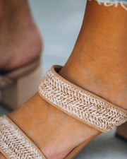 Scottsdale Raffia Block Heeled Sandal view 4