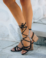 Lydia Strappy Heeled Cheetah Sandal  - FINAL SALE
