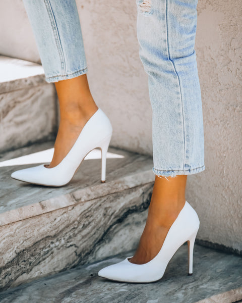 Faithful Faux Leather Pumps