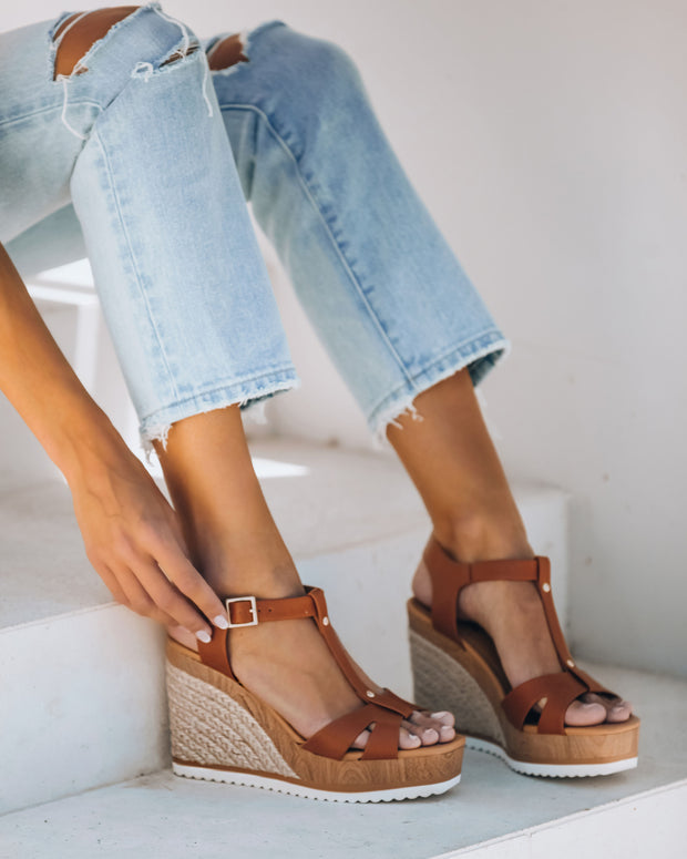 Heron Strappy Faux Leather Wedge  - FINAL SALE