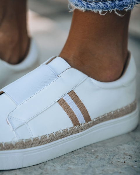 PREORDER - Starboard Faux Leather Slip-On Espadrille Sneaker