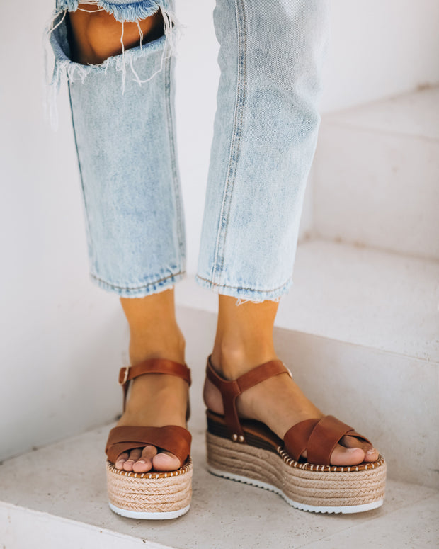 Serenity Faux Leather Espadrille Sandal - FINAL SALE