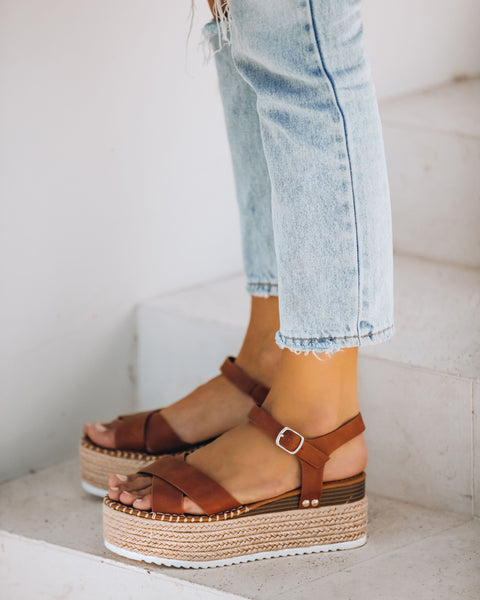 Serenity Faux Leather Espadrille Sandal
