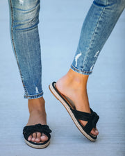 Trinidad Knotted Slide Sandal - Black
