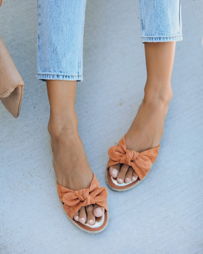 Trinidad Knotted Slide Sandal - Peach - FINAL SALE