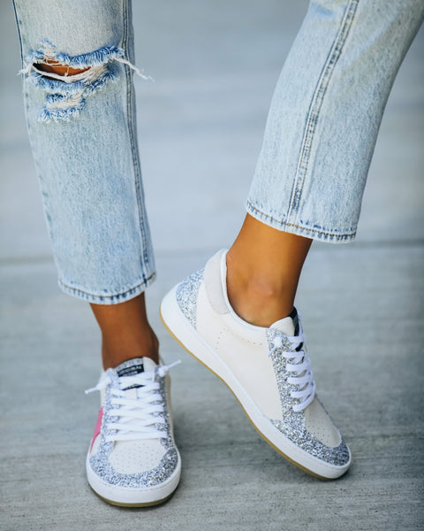 Hype Faux Leather Glitter Sneaker