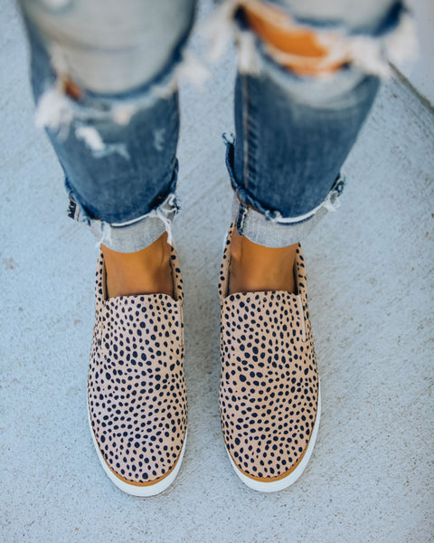 Stefan Faux Suede Cheetah Slip-On Sneaker