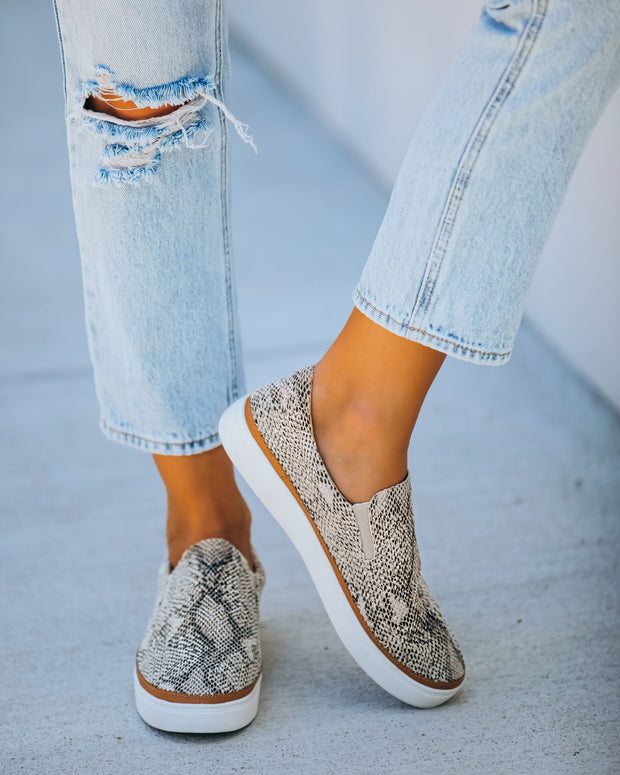 Randy Embossed Snakeskin Slip-On Sneaker