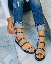 Venus Studded Strappy Sandal - Black view 10