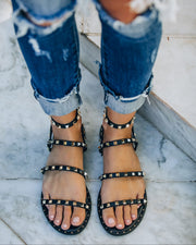 Venus Studded Strappy Sandal - Black view 7