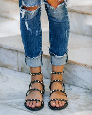 Venus Studded Strappy Sandal - Black view 1