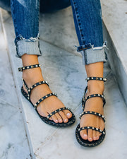 Venus Studded Strappy Sandal - Black view 12