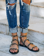 Venus Studded Strappy Sandal - Black view 9