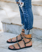 Venus Studded Strappy Sandal - Black view 11