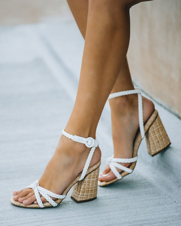 Rosa Braided Raffia Heeled Sandal view 2