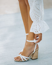 Rosa Braided Raffia Heeled Sandal view 1