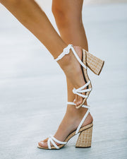 Rosa Braided Raffia Heeled Sandal view 7