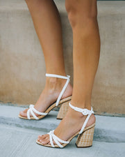 Rosa Braided Raffia Heeled Sandal view 3