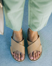 Ryder Faux Leather Slide Sandal view 3