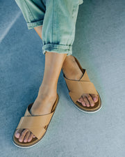 Ryder Faux Leather Slide Sandal view 1