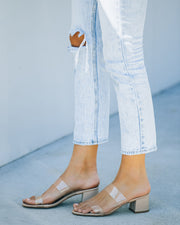 Heather Clear Strap Block Heeled Sandal view 8