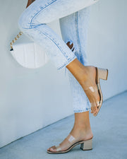 Heather Clear Strap Block Heeled Sandal view 3