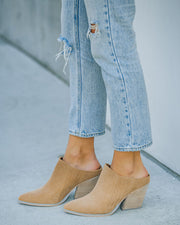 Memphis Faux Suede Heeled Mule view 2