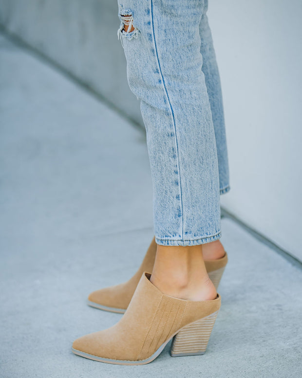Memphis Faux Suede Heeled Mule view 8