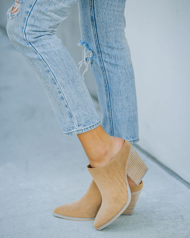 Memphis Faux Suede Heeled Mule view 7