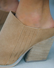 Memphis Faux Suede Heeled Mule view 4