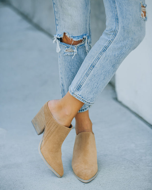 Memphis Faux Suede Heeled Mule view 9