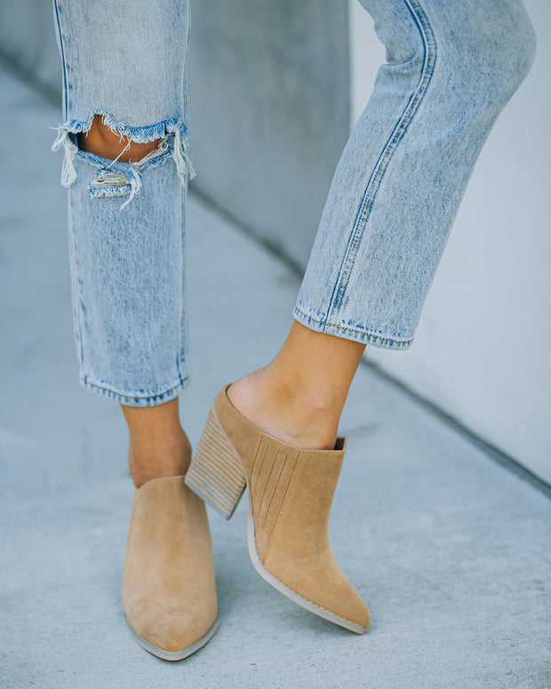 Memphis Faux Suede Heeled Mule view 10