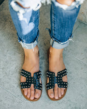 Shrill Studded Sandal - Black view 2