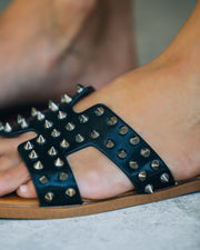 Shrill Studded Sandal - Black view 4