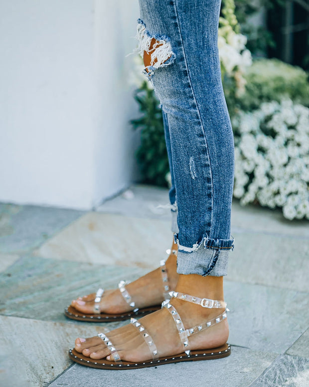 Venus Studded Strappy Sandal - Clear view 12