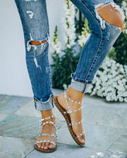 Venus Studded Strappy Sandal - Clear view 1
