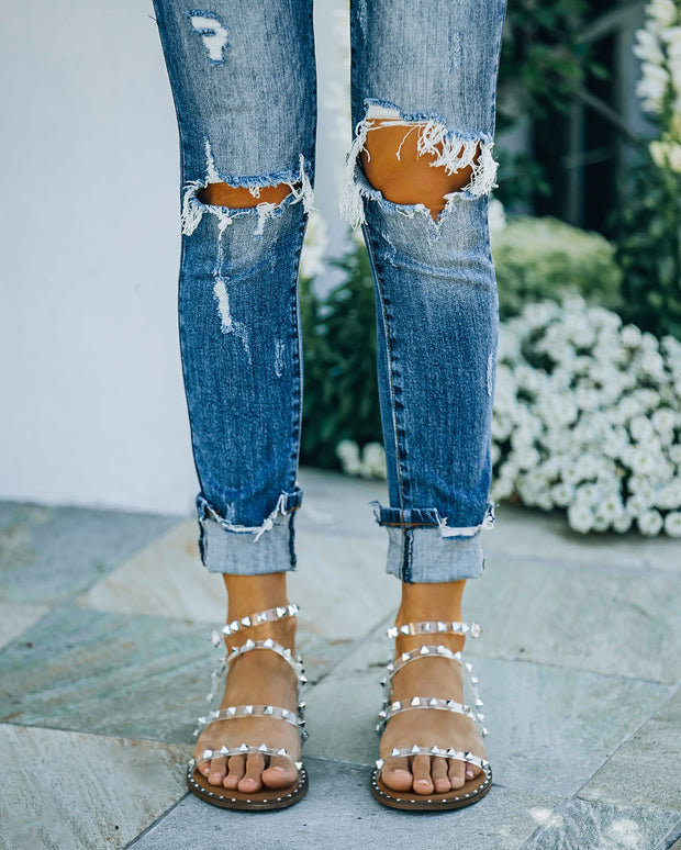 Venus Studded Strappy Sandal - Clear view 11