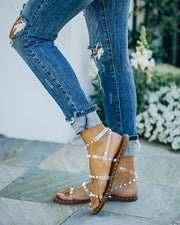 Venus Studded Strappy Sandal - Clear view 3