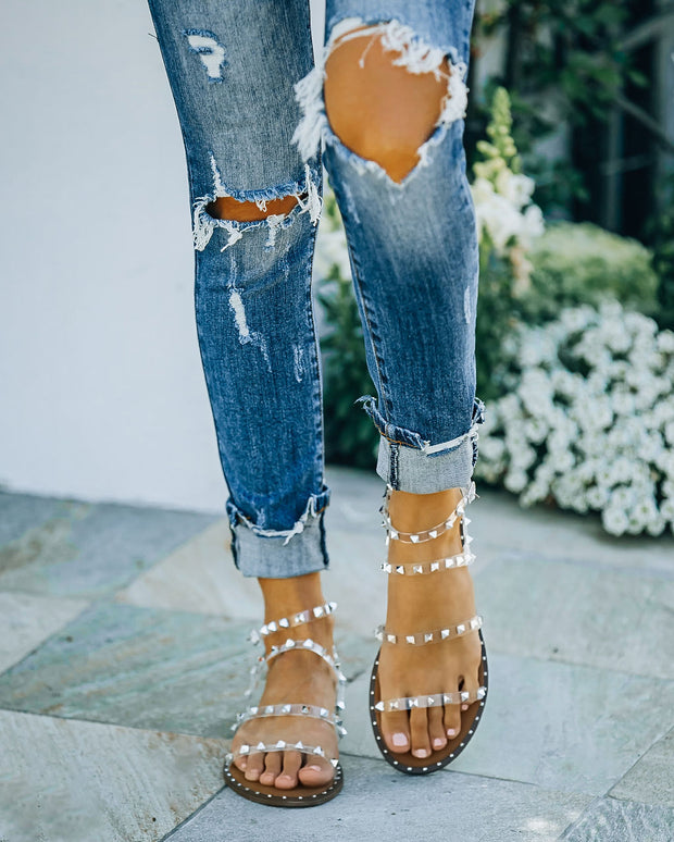 Venus Studded Strappy Sandal - Clear view 6