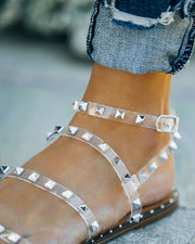 Venus Studded Strappy Sandal - Clear view 4