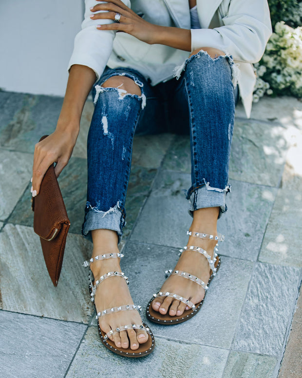 Venus Studded Strappy Sandal - Clear view 8