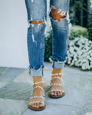 Venus Studded Strappy Sandal - Clear view 9