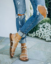 Venus Studded Strappy Sandal - Clear view 7