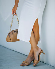 Taffy Braided Heeled Sandal - Natural view 9