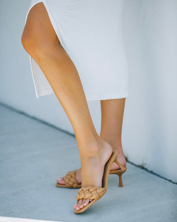 Taffy Braided Heeled Sandal - Natural view 1
